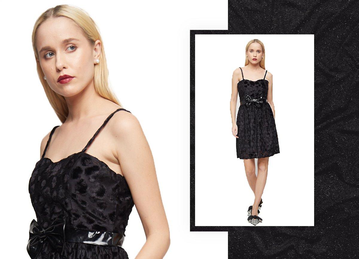 black bow party dress