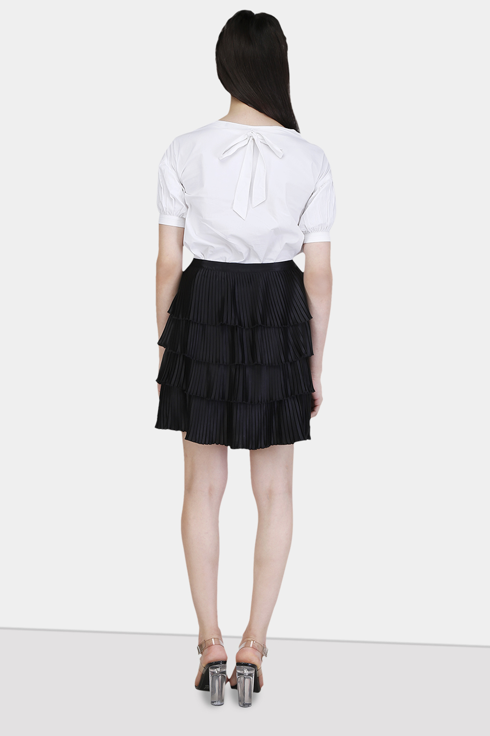 Multi Layered Pleated skirt -0