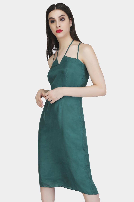 Criss cross strap dress -1