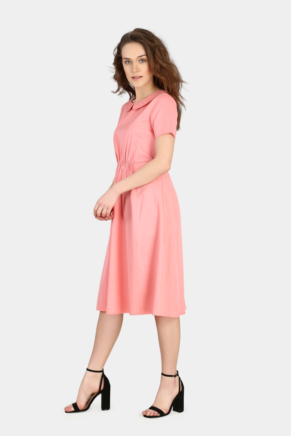 Peter Pan Gathered Corporate Dress -2