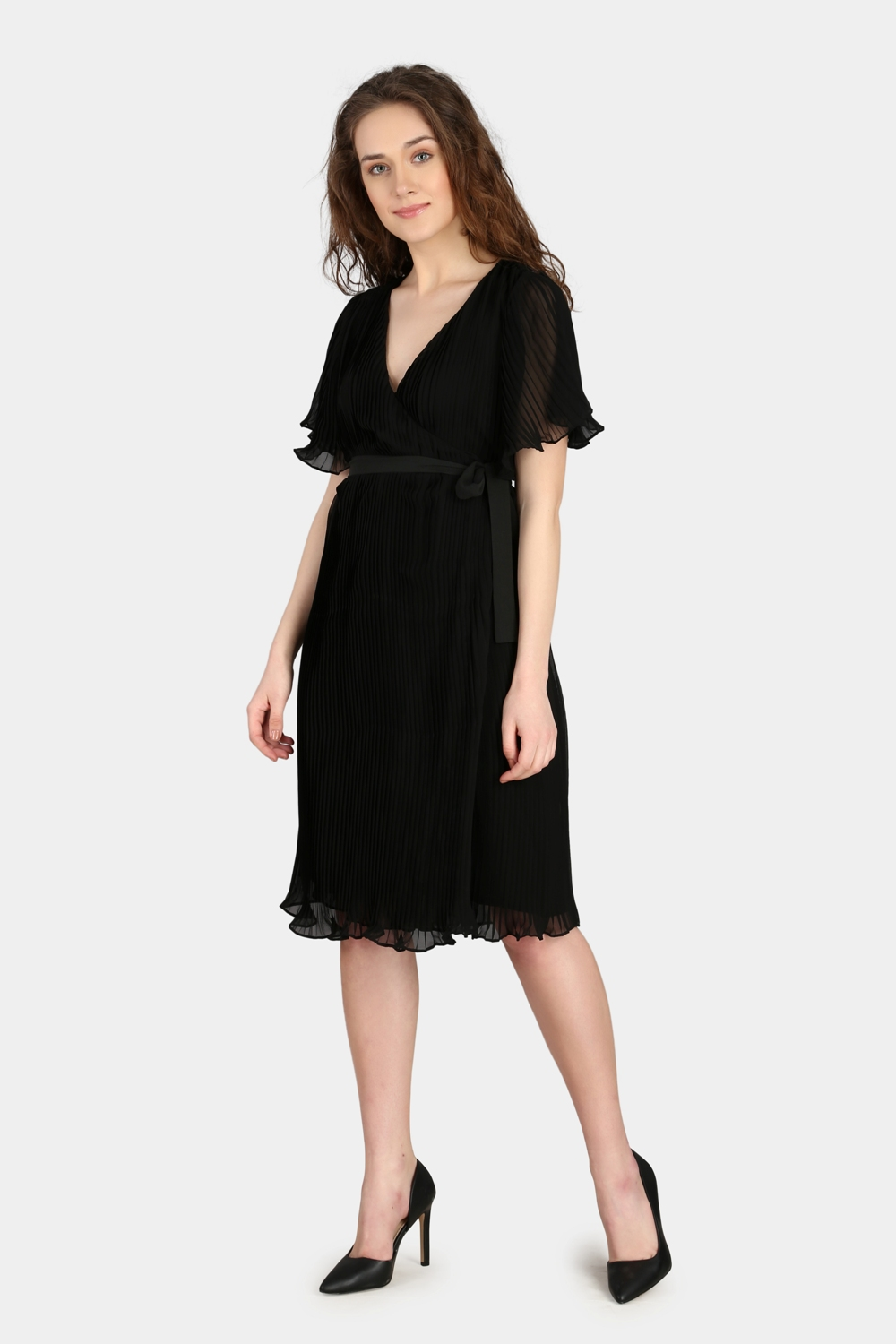 Over Lapping Pleated Dress -1