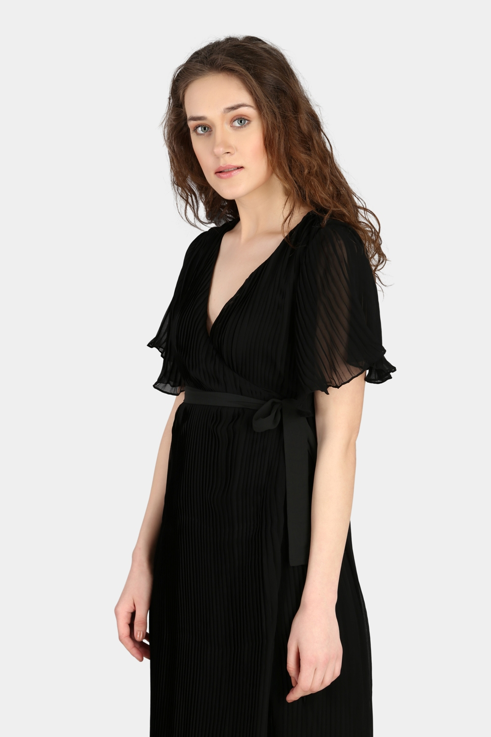 Over Lapping Pleated Dress -2