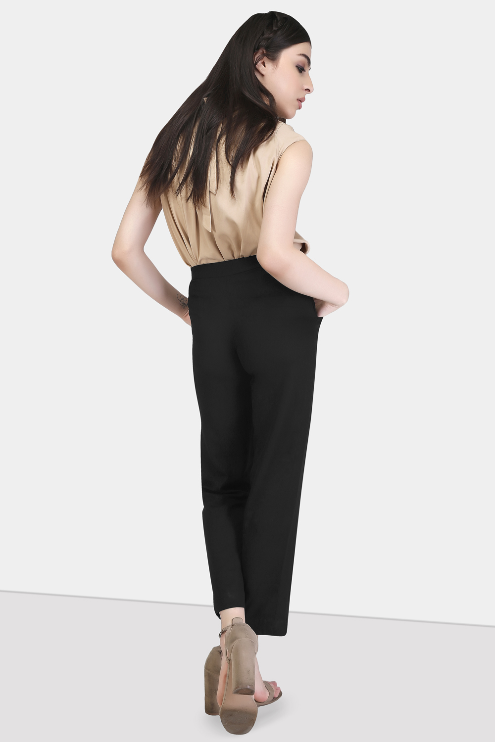 Straight Cut Trousers -2