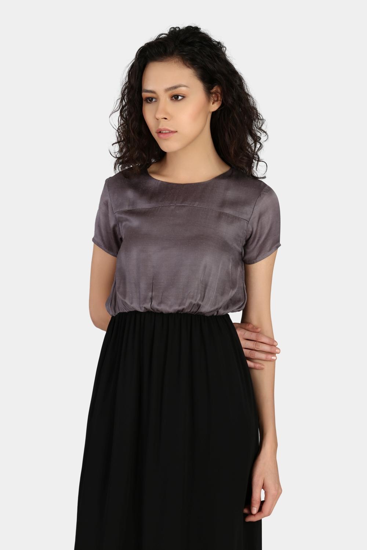 Gathered Casual Dress -1