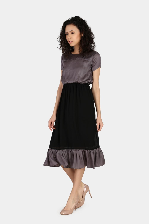 Gathered Casual Dress -0