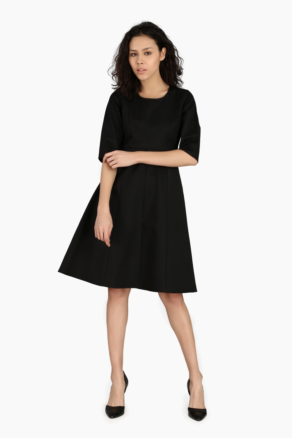 Fitted Sleeve Work Wear Dress - Main