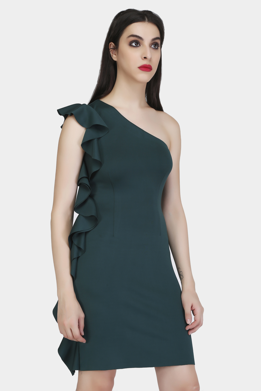 Bodycon Ruffle Dress -0