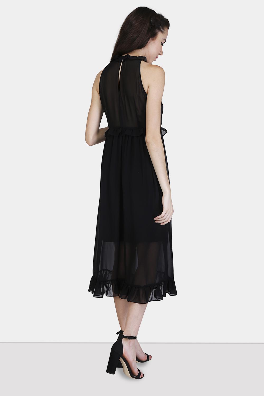 Pintucks Ruffle Dress -2
