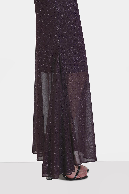Off-Shoulder Godet Dress -0