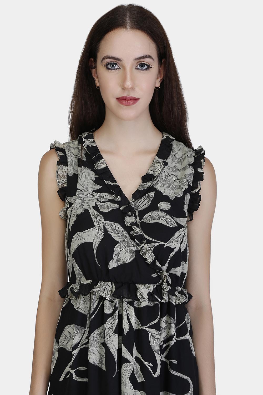Ruffle Wrap Dress -1