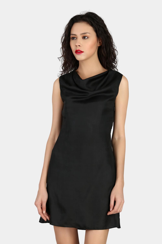Cowl Party Wear Dress -0