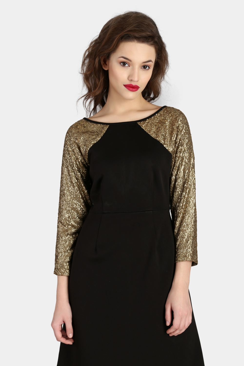 Raglan Sequin Dress -1