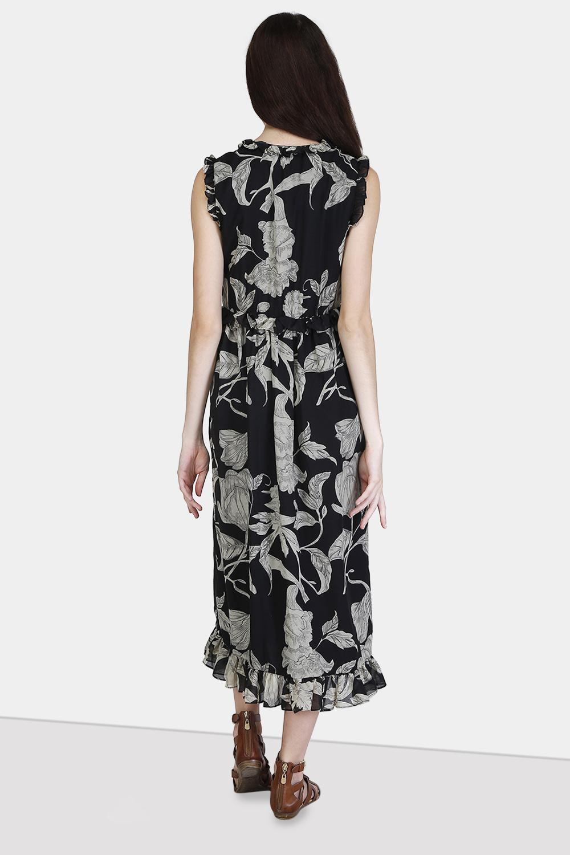 Ruffle Wrap Dress -0