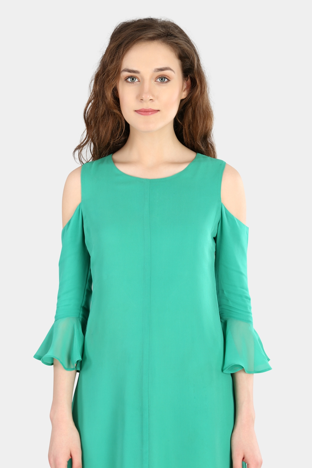Cold Shoulder Dress -0