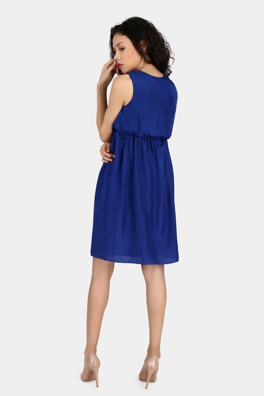 Gathered High Waist Dress -1