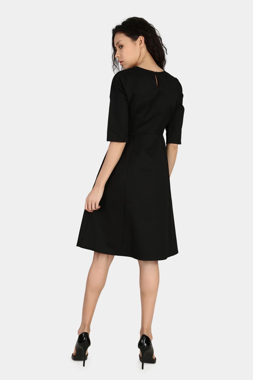Fitted Sleeve Work Wear Dress -2