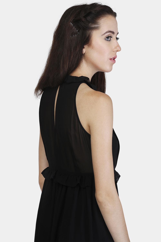 Pintucks Ruffle Dress -1