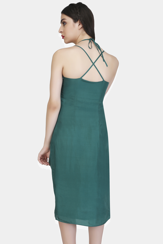 Criss cross strap dress -0