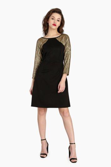 Raglan Sequin Dress