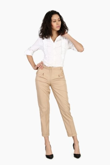 INVERTED BOX PLEAT PANT - Front