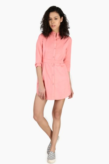 Pin Tuck Placket Top - Front