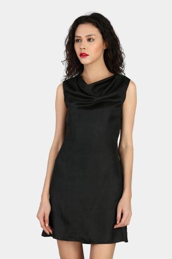 Cowl Party Wear Dress - Back