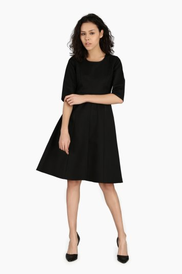 Fitted Sleeve Work Wear Dress - Front