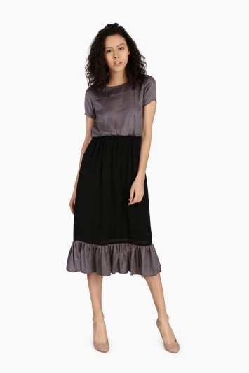 Gathered Casual Dress - Front