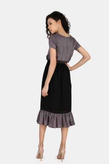 Gathered Casual Dress - Back
