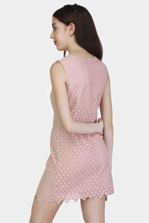 Circular Lace Dress - Back
