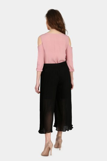 Pleated Culottes - Back