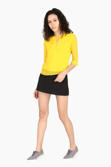 CUFF SLEEVE TOP - Front