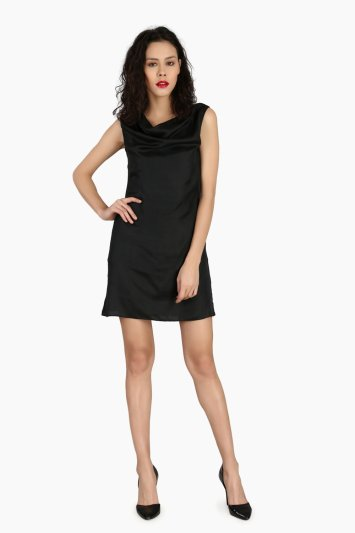 Cowl Party Wear Dress - Front