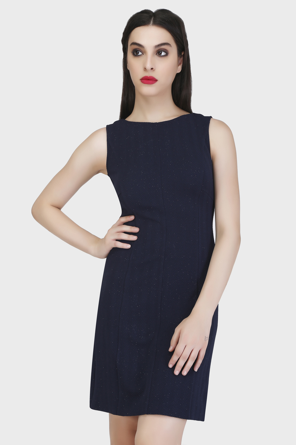 Panel Sheath Dress - Front