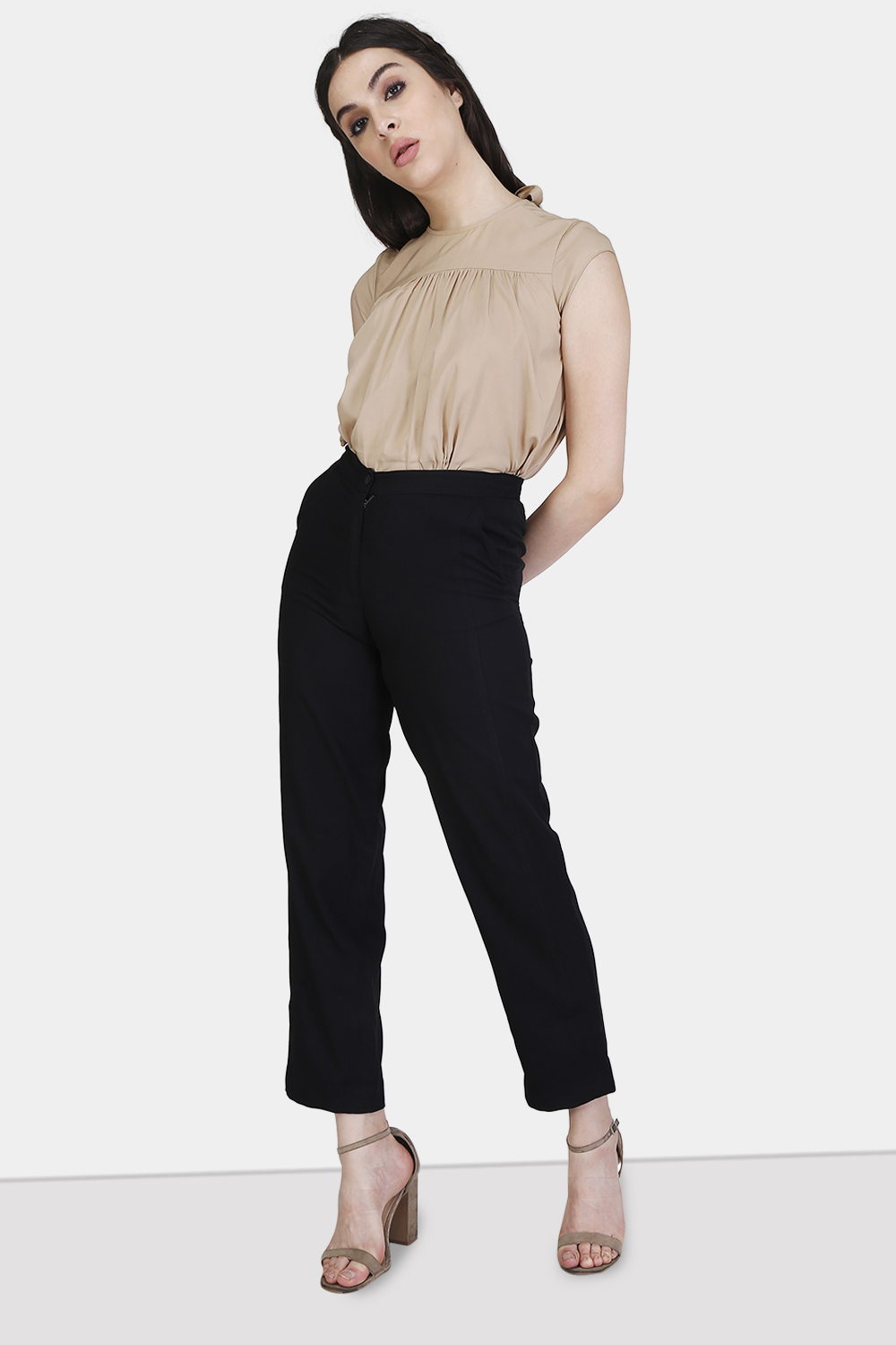 Straight Cut Trousers - Front
