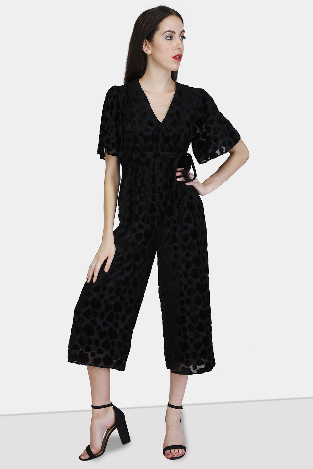 Gathered Waist Jumpsuit - Front