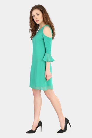 Cold Shoulder Dress - Back
