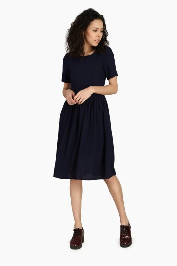 Gathered Sheath Work Wear Dress